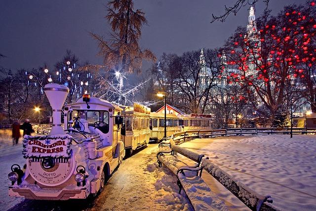 vánoční trh city hall park