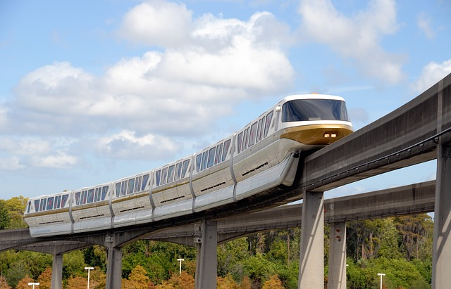 vlak na mostě